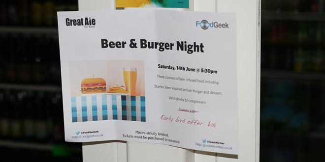 Great Ale - Burger & Beer Pairing